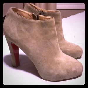 Gorgeous suede Louboutin Vicky booties